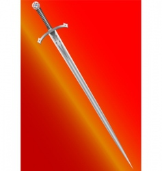 knight's sword vector image