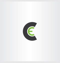 letter c and e ce logo icon symbol design element vector image