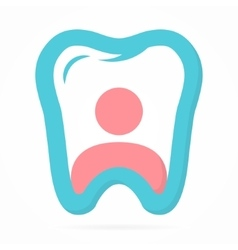 Logo combination of person and tooth vector