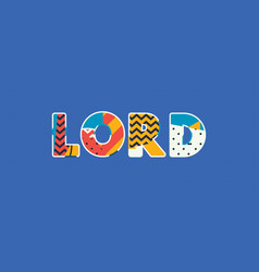 lord concept word art vector image
