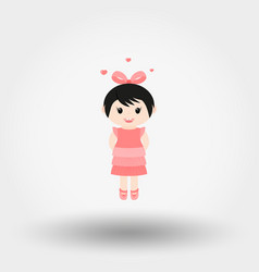 lovely girl valentine s day vector image vector image