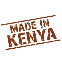 made in kenya stamp vector image