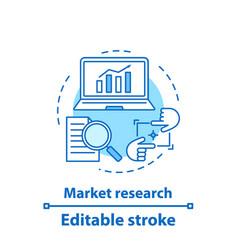 Market research concept icon vector