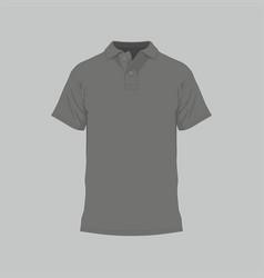 mens black t-shirt vector image