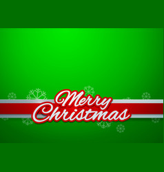 Merry Christmas on Green Background vector