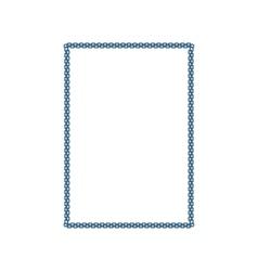 Metallic chain frame vector