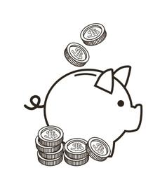 Money financial sketch design vector