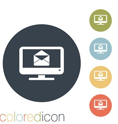 monitor letter envelope vector image