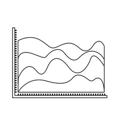 Monochrome silhouette of statistic graphic in vector