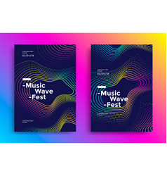 Music wave poster vector