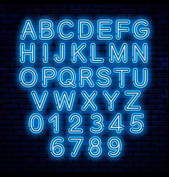 neon letters blue and white vector image