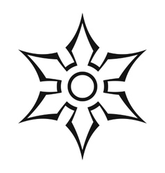 Ninja shuriken star weapon icon outline style vector