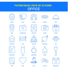 Office icons - futuro blue 25 icon pack vector