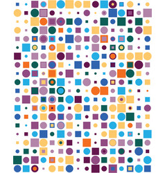 pattern with colorful squares and dots vector image
