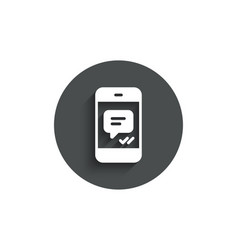 phone message simple icon mobile chat sign vector image