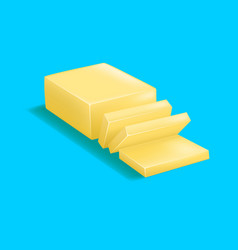 Realistic detailed 3d butter vector