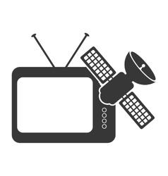 Retro television device vector
