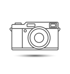 Retro vintage camera icon vector