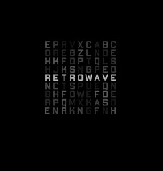 Retrowave t-shirt and apparel design with blocks vector
