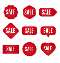 sale stickers collection set of promotional vector image