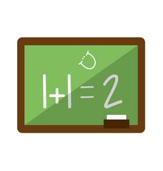 school blackboard cartoon isolated vector image