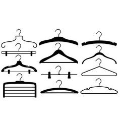 Set of different hangers vector