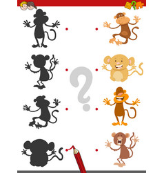 shadow game with monkeys vector image