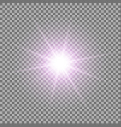 shining star on transparent background purple vector image