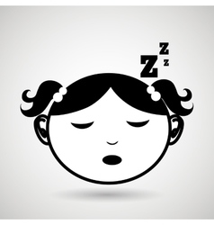 sleeping concept design vector image