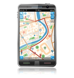 smart phones with gps navigation vector image