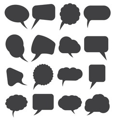 speech bubles simpe3 resize vector image