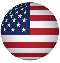 Sphere USA flag vector