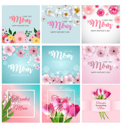 spring and summer flowers bright background happy vector image