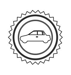Star emblem side car icon vector