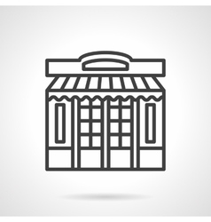 Store front simple line icon vector image vector image