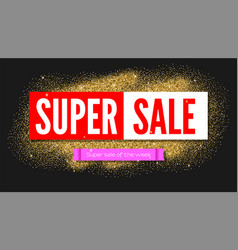 Super sale of the week sale poster with luxury vector