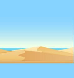 trendy soft flat gradient color style landscape vector image