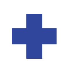 Veterinary symbol blue cross vector