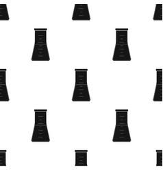Volumetric flask with liquidmedicine single icon vector