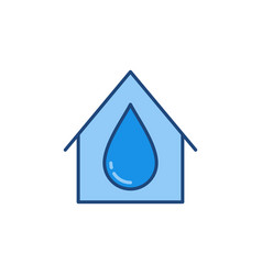 water drop inside house concept colored vector image