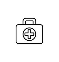 web line icon medical case black on white vector image