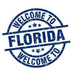 Welcome to florida blue stamp vector