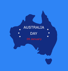 australia day theme 26 january vector image vector image