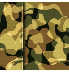 Camouflage khaki texture vector image vector image