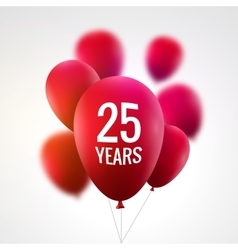 Celebration colorful background with red balloons vector image vector image