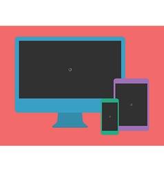 Digital Minimalist Flat Design Template Monitor vector image vector image