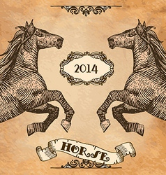 Horse head-style prints vector image