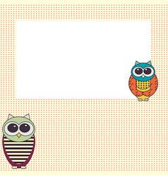 owl invitation card template vector image