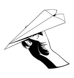 paper airplane vector image