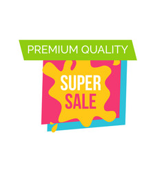 premium quality sale logo vector image vector image